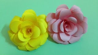 How to make rose paper flower | Easy origami flowers for beginners making | DIY-Paper Crafts
