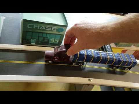 PEM 1/64 scale Freightliner in matchbox car city video 4 of 6