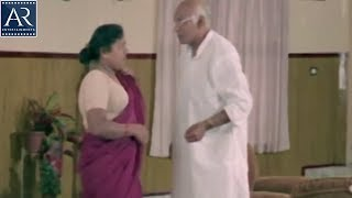 Chinna Papa Pedda Papa Movie Scenes | Lady Servant tempting Old Man Comedy
