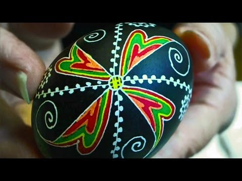 Learn How to Dye & Color Easter Eggs Decorate Ukrainian Ukraine Pysanky Pysanka Beginner Egg
