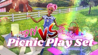VERSUS: DIY Picnic Play Set VS Barbie Picnic Play Set