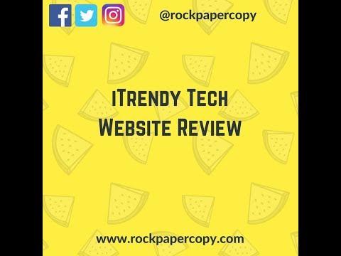 iTrendy Tech Website Review