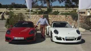 Porsche 911 Targa GTS & Porsche Boxster GTS im Vergleich