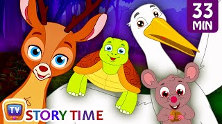 Wild Animals save their Deer friend from Bad Hunter | Bedtime Stories For Kids | ChuChu TV Storytime