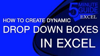 How to Create Dynamic (Changing) Drop-Down Lists in Excel Using INDIRECT