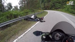 Yamaha MT-09 crash at Bukit Tinggi