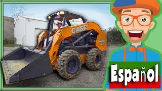 Carguero con Blippi Español | Camiones de Construcción para Niños | Cargadora Compacta