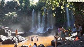 Waterfall on Phnom Kulen in Siem Reap, Cambodia - Phnom Kulen National Park - Waterfall