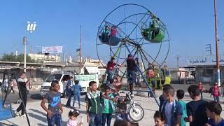 مشاهد من أجواء العيد في مدينة نوى بريف درعا الغربي