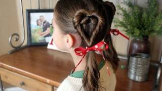 Double Heart Twists   Valentine's Day   Cute Girls Hairstyles