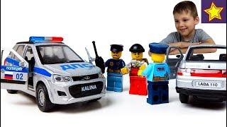 Полицейские машинки Лада Калина Кросс ДПС Police cars for kids