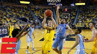 Michigan stays undefeated with blowout win over UNC | College Basketball Highlights
