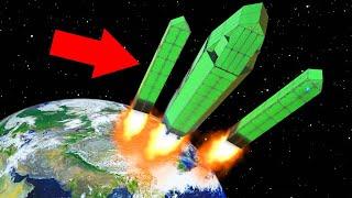 SPACE X FALCON HEAVY ROCKET IN TRAILMAKERS!