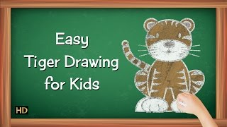 How To Draw A Tiger Easy Step By Step | Learning Videos For Children | Shemaroo Kids