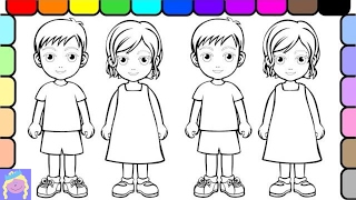 Learn How to Color People With Digital Coloring Book For Kids