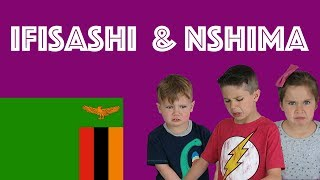 American Kids try food from Zambia |  Ifisashi & Nshima
