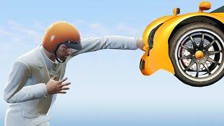MAN vs. UNSTOPPABLE CAR! (GTA 5 Funny Moments)