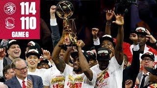 Raptors beat Warriors to win 1st NBA title in team history | 2019 NBA Finals Highlights