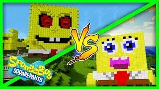 Minecraft House vs House - SONGEBOB.EXE VS SPONGEBOB