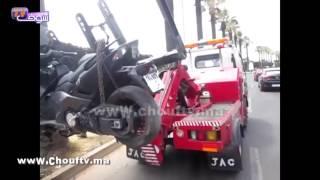 الفيديو الأول الذي يظهر اللحظات الأولى لفاجعة اصطدام دراجة نارية تابعة للأمن بدراجة شابين بالبيضاء