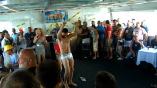 Gay Stripper, Tommy Defendi Performing on Peter Burke's Tea Cruise