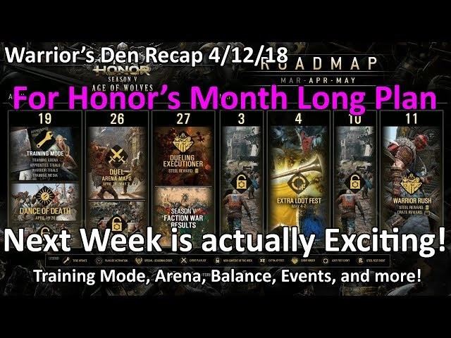 Warrior's Den Recap 4/12/18 - Balance changes, Roadmap, Events, Arena, Training, and more!