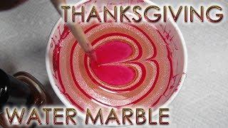 Thanksgiving Water Marble | DIY Nail Art Tutorial