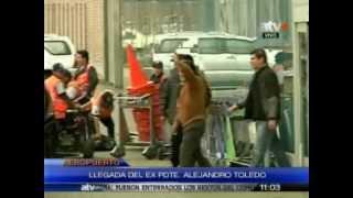 Expresidente Toledo llegó a Lima