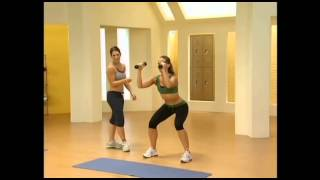 Jillian Michaels: 30 Day Shred Level 1 Round 1 Strength Squad and press Part 1