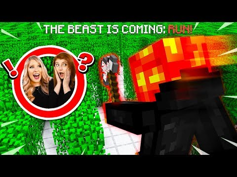 TROLLING MY WIFE AND SISTER AS THE BEAST MCPE Maze Escape
