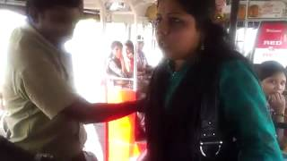 Lady molested in bus