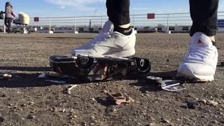 reebok classic.  crush in sneakers. girl. big metal toy car. bentley. crush fetish