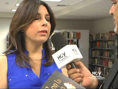 HOY COAHUILA. Ana María Lomelí en la Feria del Libro Monclova 2014 EN ENTREVISTA