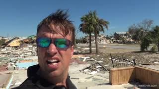 Hurricane Michael CATASTROPHIC storm surge damage aerial and ground survey