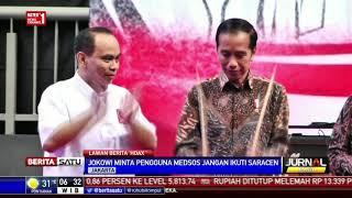 Jokowi Ingatkan Projo Tak Sebarkan Hoax
