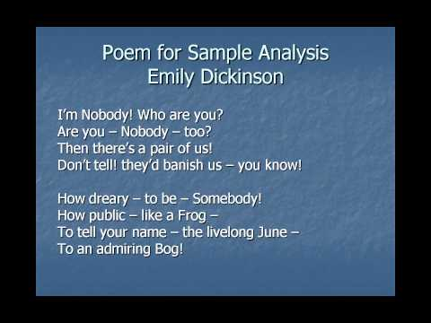 Sample Poem Analysis Essay