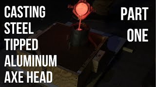 Casting Aluminum Axe Head | Part 1 Making The Pattern And Pouring The Mold