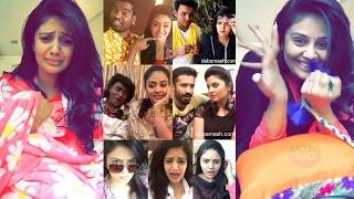 Anchor SriMukhi Dubsmash Videos In Telugu - Srimukhi - Anchor Ravi - Bithiri Sathi