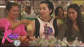 Kris and Pokwang's market experience in Chaing Mai