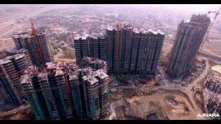 Aerial View of 'Ajnara Ambrosia' 2015 4K