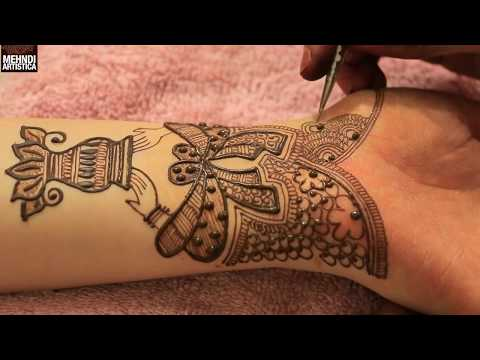 Xxx Mp4 Kalash With Dulha Dulhan Hands Bridal Mehndi Design Traditional Mehendi 2017 3gp Sex