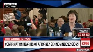 Lunatic Members of Code Pink Removed From Sen Jeff Sessions Confirmation Hearings