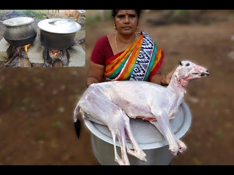 Cooking Full Goat Curry Recipe | Daddy Prepared in My Village | VILLAGE FOOD