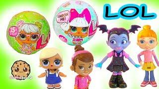 LOL Surprise Blind Bag Baby Doll Ball + Disney Vampire Girl Vampirina - Toy Video