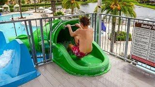 Regal Oaks Waterpark Kissimmee - Speed Slide | Green Waterslide Onride POV