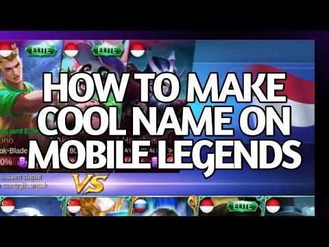 Cara buat tulisan kecil, nama squad, nama depan, nickname, cool nickname Mobile Legends