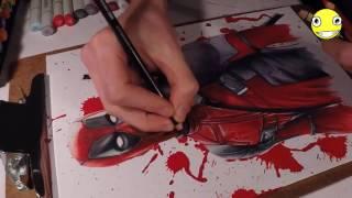 3D Resim Çizmek II 3D Deadpool Drawing