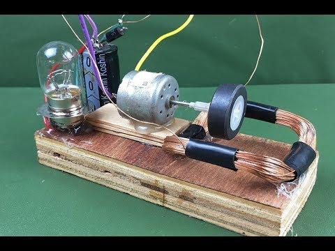 100 Free energy self running machine generator using dc motor 2018 Science New experiment