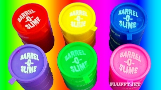 Learning Colors with Slime Barrel Surprise Shopkins for Children | Play and Learn with Toys