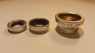 3 in 1 Universal Smartphone Camera Lens 180°Fish Eye & Wide Angle & Macro Lens